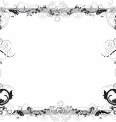 Flower black and white frame vector