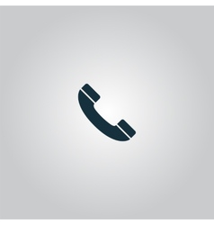 Telephone handset icon vector