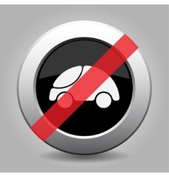 Gray chrome button - no car vector