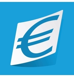 Euro sticker vector