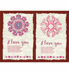 Valentine's day grunge backgrounds 1 vector