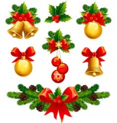 Christmas ornaments vector