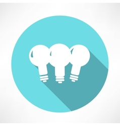 Three lamp icon vector