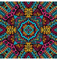 Abstract festive colorful tribal pattern vector