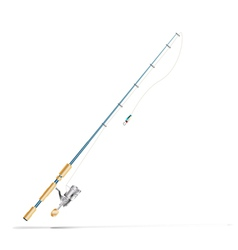 Fishing rod vector
