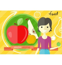 Healthy lifestyle foods concept vector