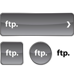 Ftp button set vector