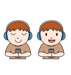 Headphone boy vector