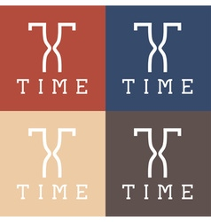 Time monogram vector