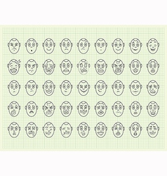 Collection of emotion face vector