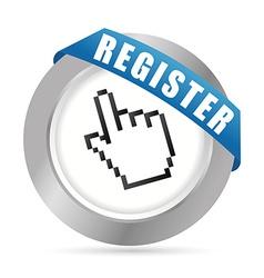 Register now design vector
