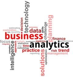 Word cloud business analytics vector
