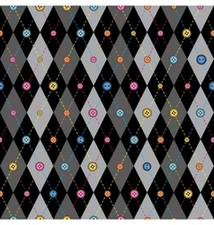Classic argyle pattern in patchwork style vector