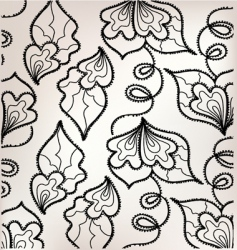 Floral embroidery vector