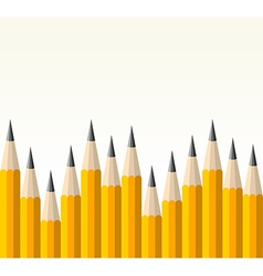 Back to school yellow pencil pattern vector