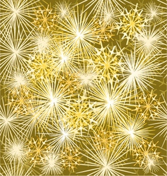 Seamless texture fireworks new year gold backgroun vector