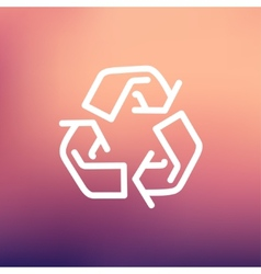 Recycle symbol thin line icon vector