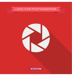 Abstract logo icon photo lens for the photographer vector