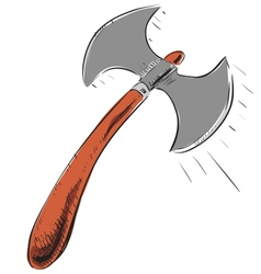 Double sided axe icon vector