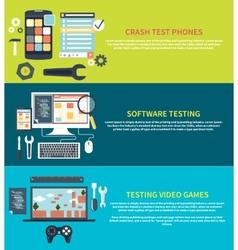 Software games phones crash testing vector