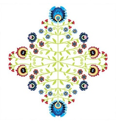 Polish folk inspired pattern vector