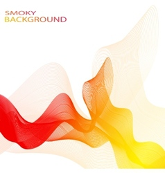 Colorful smoky waves background  can be vector
