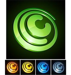 Vibrant 3d c letter vector