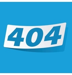 404 sticker vector