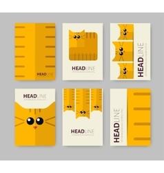 Set of six brochures vector