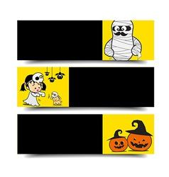 Halloween banner 002 vector