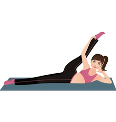 Girl doing fitness vector