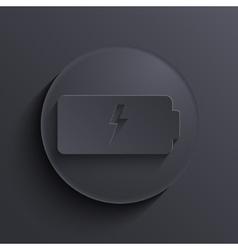 Modern dark circle icon eps10 vector