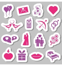 Valentine stickers vector