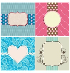 Retro greeting cards set vector