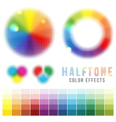 Color halftone effects vector