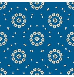 Seamless blue background with abstract oriental vector