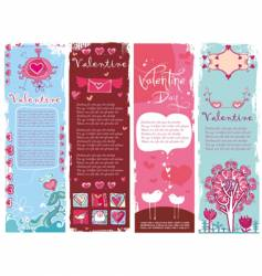 Valentine's day banners vector