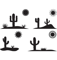 Desert landscapes vector