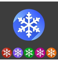 Snowflake flat icon vector