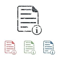 Information document grunge icon set vector