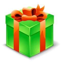 Gift box with ribbon vector