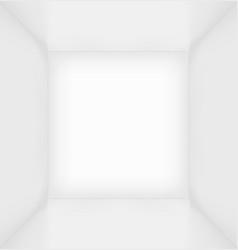 White simple empty room interior vector
