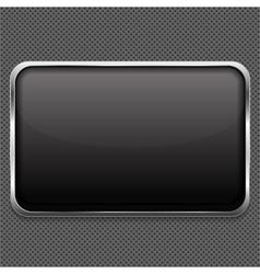 Frame on metal background vector