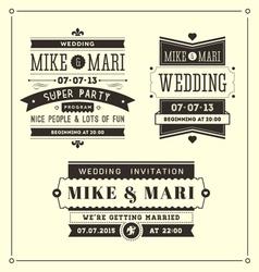 Retro weddings vector