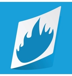 Fire sticker vector