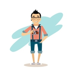 Creative photographer flat vector