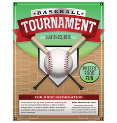 Baseball tournament flyer vector