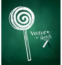 Chalkboard drawing of candy vector