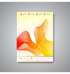 Modern template layout for brochure magazine vector