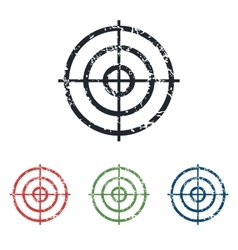 Aim grunge icon set vector